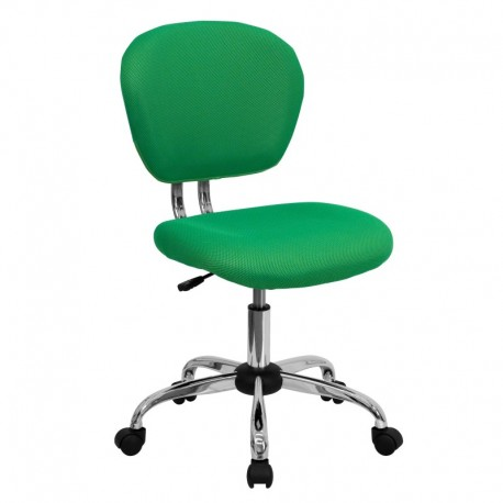 MFO Mid-Back Bright Green Mesh Task Chair with Chrome Base