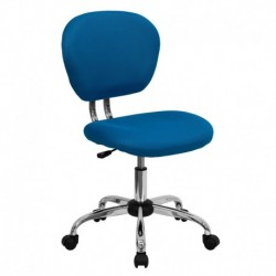 MFO Mid-Back Turquoise Mesh Task Chair with Chrome Base