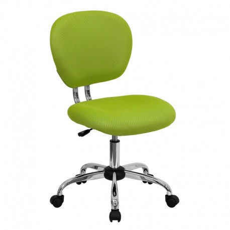 MFO Mid-Back Apple Green Mesh Task Chair with Chrome Base