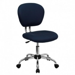 MFO Mid-Back Navy Mesh Task Chair with Chrome Base