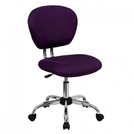 MFO Mid-Back Purple Mesh Task Chair with Chrome Base