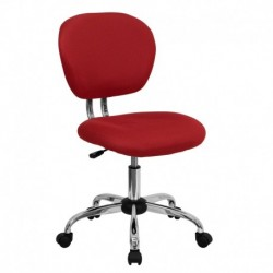 MFO Mid-Back Red Mesh Task Chair with Chrome Base