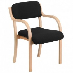 MFO Contemporary Black Fabric Wood Side Chair with Beech Frame
