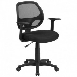 MFO Mid-Back Black Mesh Computer Chair