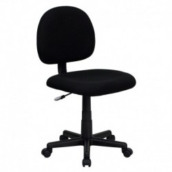 MFO Mid-Back Ergonomic Black Fabric Task Chair