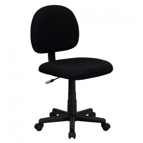 MFO Mid-Back Ergonomic Black Fabric Task Chair