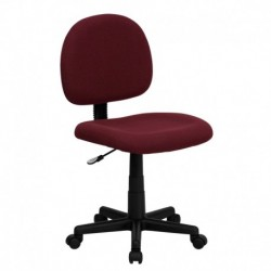 MFO Mid-Back Ergonomic Burgundy Fabric Task Chair