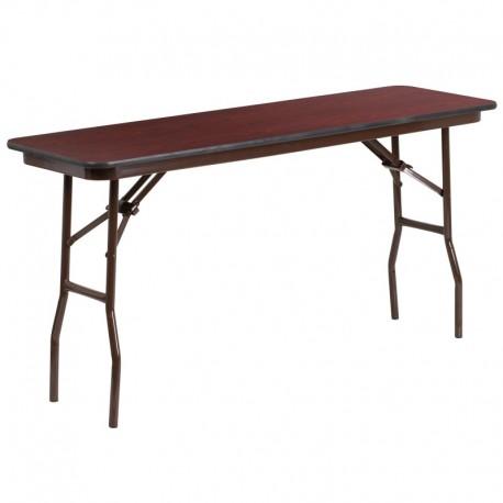 MFO 18'' x 60'' Rectangular High Pressure Laminate Folding Training Table