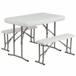 MFO Plastic Folding Table and Benches