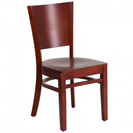 MFO Chimera Collection Solid Back Mahogany Wooden Restaurant Chair