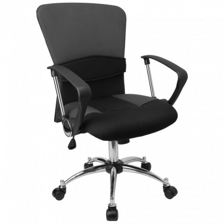 MFO Mid-Back Grey Mesh Office Chair