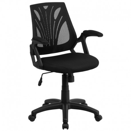 MFO Mid-Back Black Mesh Chair with Mesh Seat