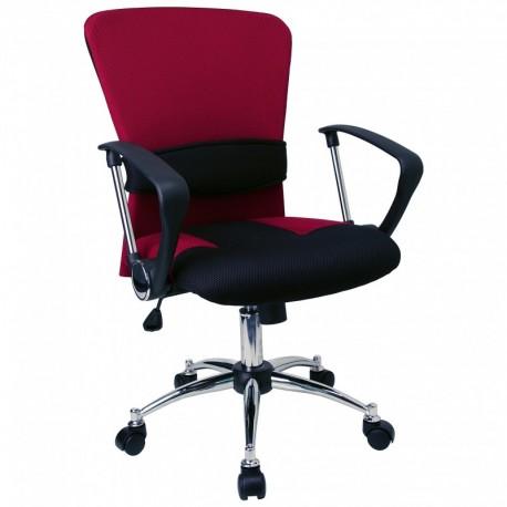 MFO Mid-Back Burgundy Mesh Office Chair
