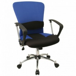 MFO Mid-Back Blue Mesh Office Chair