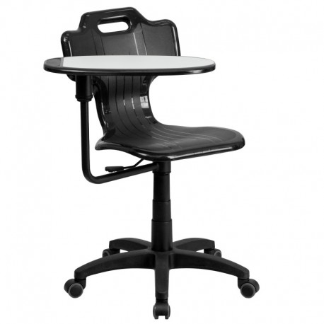 MFO Black Mobile Task Chair with Swivel Tablet Arm