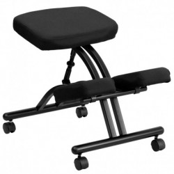 MFO Mobile Ergonomic Kneeling Chair in Black Fabric