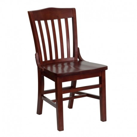 MFO Mahogany Finished School House Back Wooden Restaurant Chair