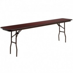 MFO 18'' x 96'' Rectangular High Pressure Laminate Folding Training Table