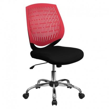 MFO Mid-Back Red Designer Back Task Chair with Chrome Base
