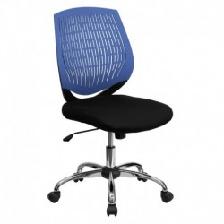 MFO Mid-Back Blue Designer Back Task Chair with Chrome Base