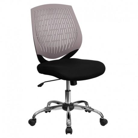 MFO Mid-Back Gray Designer Back Task Chair with Chrome Base