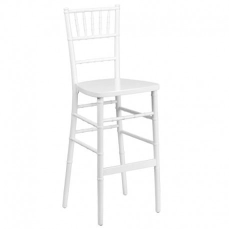 MFO Friendly Elegance White Wood Chiavari Bar Stool