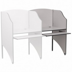 MFO Add-On Study Carrel in Nebula Grey Finish