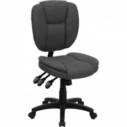 MFO Mid-Back Gray Fabric Multi-Functional Ergonomic Task Chair