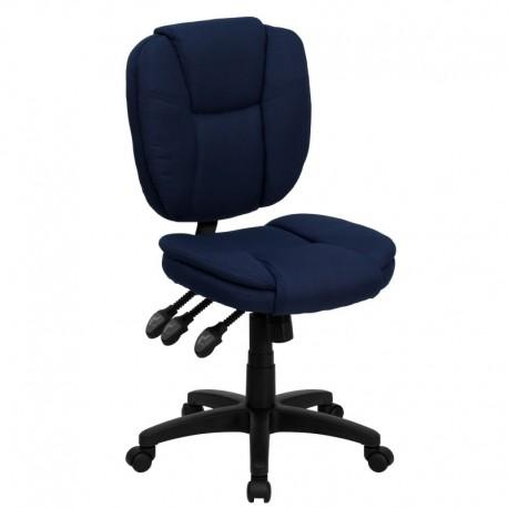 MFO Mid-Back Navy Blue Fabric Multi-Functional Ergonomic Task Chair