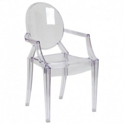 MFO Ghost Chair with Arms in Transparent Crystal