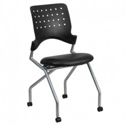 MFO Galaxy Mobile Nesting Chair with Black Leather Seat