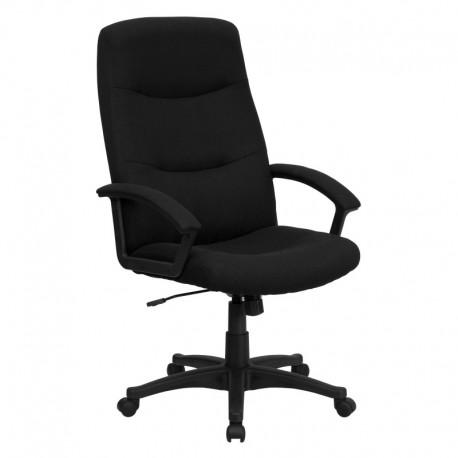 MFO High Back Black Fabric Executive Swivel Office Chair