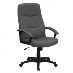 MFO High Back Gray Fabric Executive Swivel Office Chair
