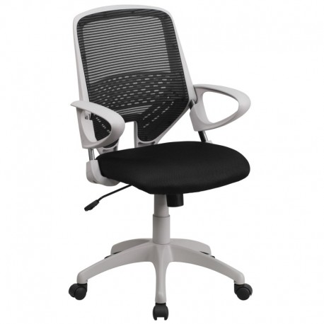 MFO Mid-Back Black Mesh Office Chair