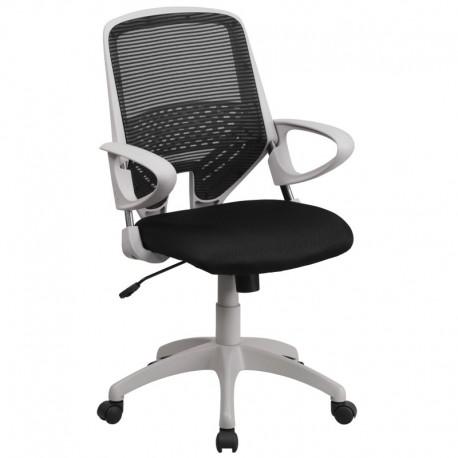 MFO Mid-Back Black Mesh Office Chair