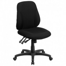 MFO Mid-Back Black Fabric Multi-Functional Ergonomic Chair