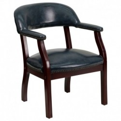MFO Navy Vinyl Luxurious Conference Chair