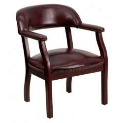MFO Oxblood Vinyl Luxurious Conference Chair