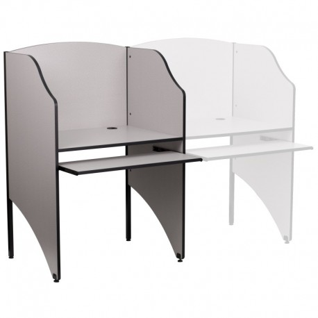 MFO Starter Study Carrel in Nebula Grey Finish