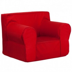 MFO Oversized Solid Red Kids Chair