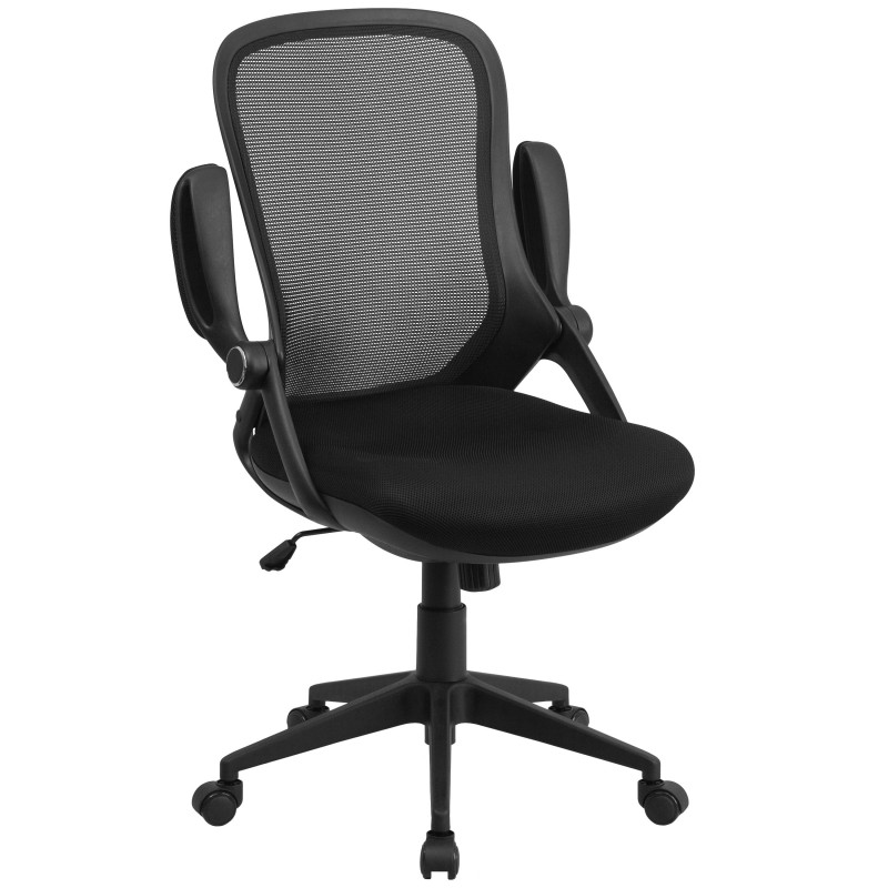 Mfo High Back Executive Black Mesh Chair With Comfort Curved Back