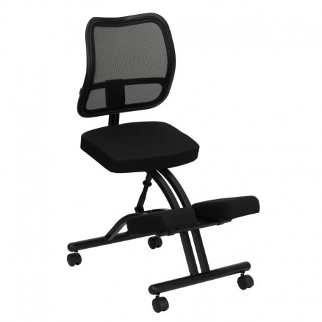 products chair black ergonomic with ecoseating in fabric kneeling handles