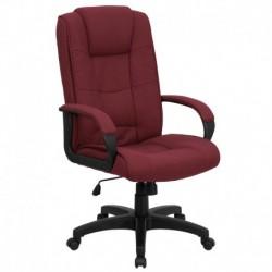 MFO High Back Burgundy Fabric Executive Office Chair