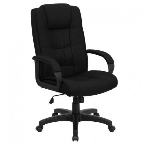MFO High Back Black Fabric Executive Office Chair