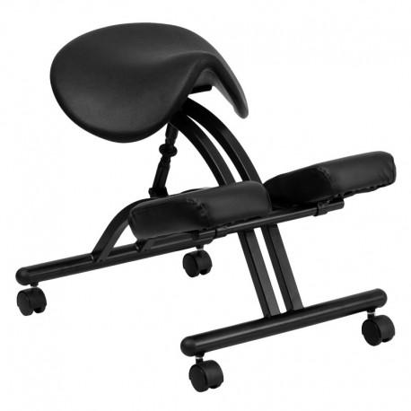 MFO Ergonomic Kneeling Chair with Black Saddle Seat