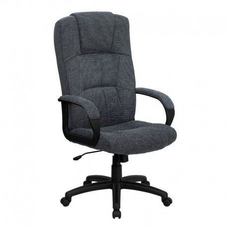 MFO High Back Gray Fabric Executive Office Chair