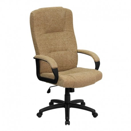 MFO High Back Beige Fabric Executive Office Chair