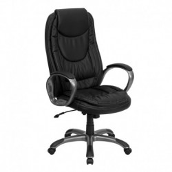 MFO High Back Black Leather Executive Swivel Office Chair