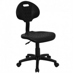 MFO Tuff Butt'' Soft Black Polyurethane Utility Task Chair