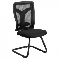 MFO Galaxy Black Mesh Side Chair with Mesh Seat and Adjustable Lumbar Support